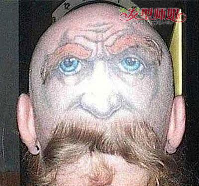 头发,搭配上方后脑勺处的人脸画像,让人不免想起大画家达芬奇的形象.图片