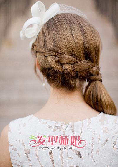 精致简单新娘辫发 婉约时尚最佳选择(4)