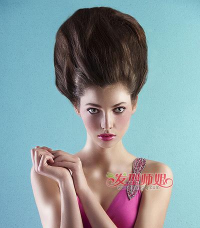 女生个性盘发发型 张扬你的超凡气质(4)图片