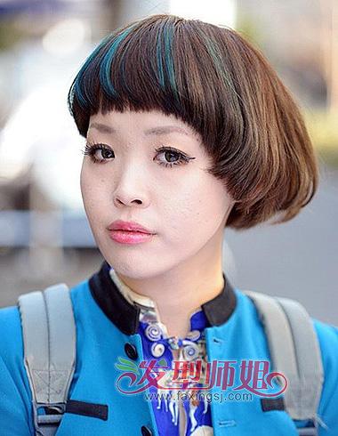 时尚齐刘海短发发型 蘑菇头最可爱