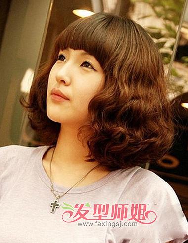 拯救半长不短的发丝 优雅迷人中短卷发发型特辑(4)图片