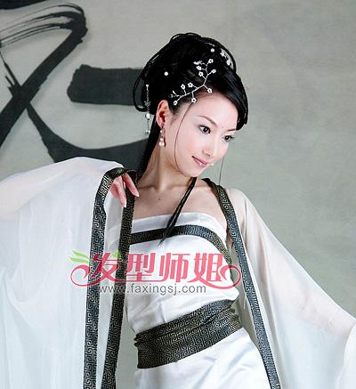 古代美女盘发发型欣赏(2)