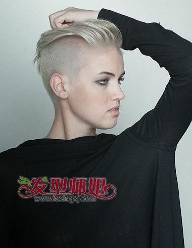 女生帅气短发发型 不失女人味更强调个性(2)