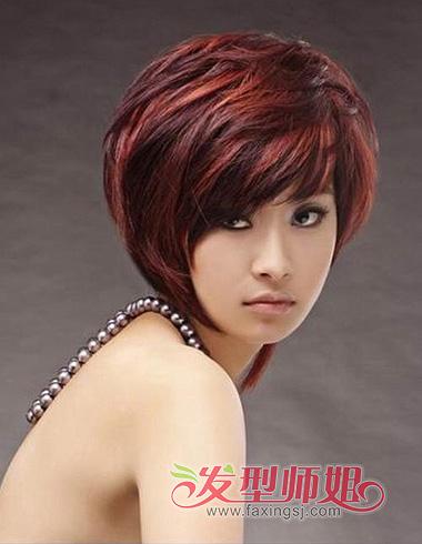 非主流美女素颜照 非主流短发女生图片