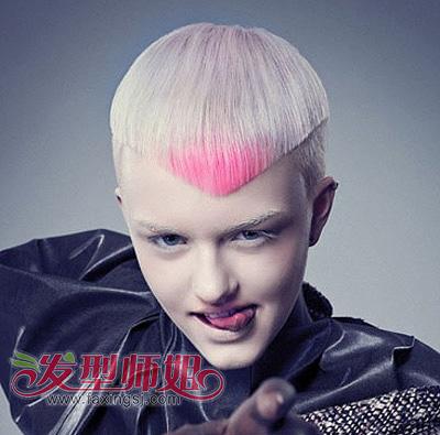 男帅哥们,黄色的 染发颜色可以把肤色衬托得更加白皙图片