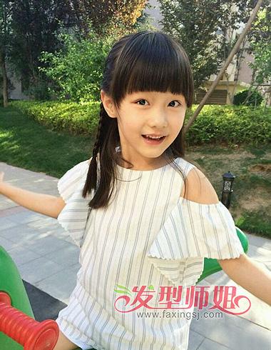 超可爱儿童发型图片 儿童简单盘发