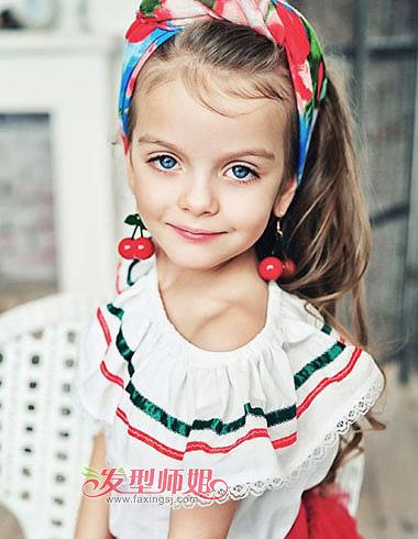 时尚新潮的儿童发型 优雅小公主发型特辑