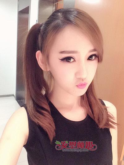可爱女生双马尾发型图片
