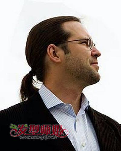 男士扎马尾发型图片_男士脑后扎辫子发型