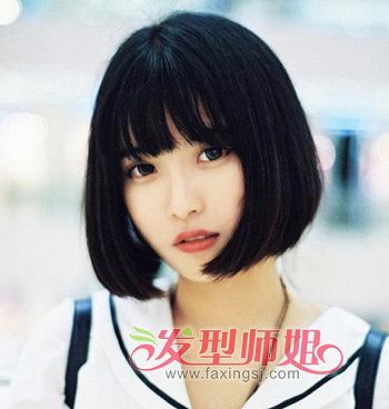 小脸女生头发少适合什么发型 女生头发少脸大发型(2)图片