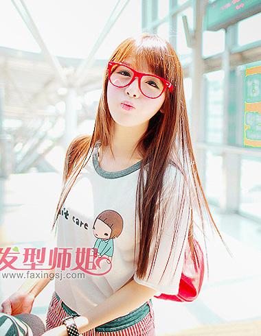 戴眼镜女孩儿要怎样设计自己的刘海