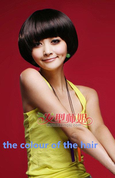 可爱女生蘑菇头 蘑菇头染发发型(2)