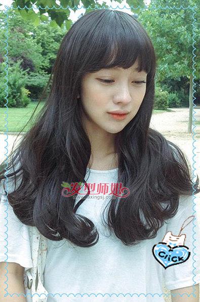 黑色梨花头发型图片 梨花头发型(4)图片