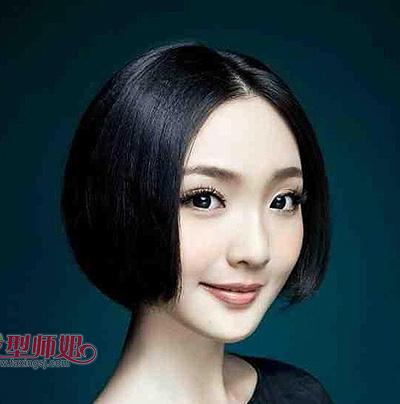 大圆脸短发发型图片 短发大圆脸发型图片图片