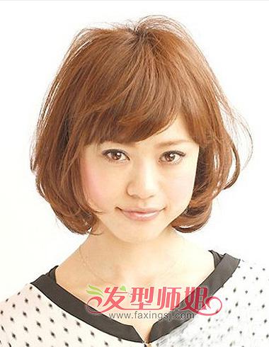 圆脸波波头发型 圆脸塑形波波头图片图片