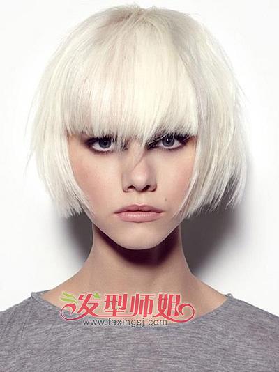 2015最新染发发型 女生短发挑染发型 发型师姐图片