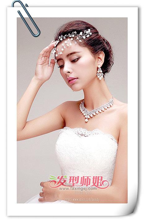 2015韩式新娘盘发发型-2015年新娘流行发型 好看的新娘发型盘发