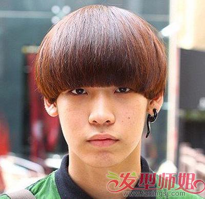 学生锅盖头发型男 初中男学生刘海发型 发型师姐