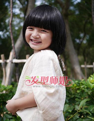 2015女童短发发型图片 小女孩短发发型图片(3)图片