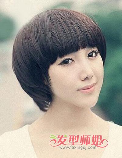 女生尖尖脸发型 尖脸女生适合什么样的短发发型(4)图片