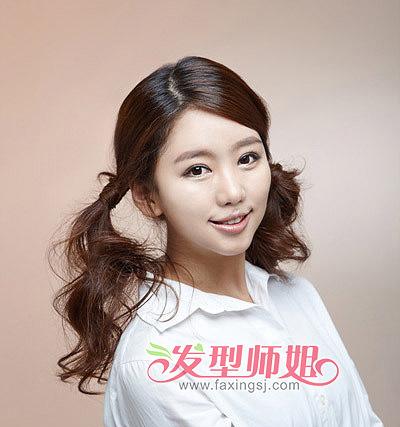 简单发型扎法马尾辫 学生马尾辫发型无刘海(4)图片
