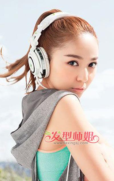 学生无刘海马尾辫发型 初中学生马尾辫发型扎法 4