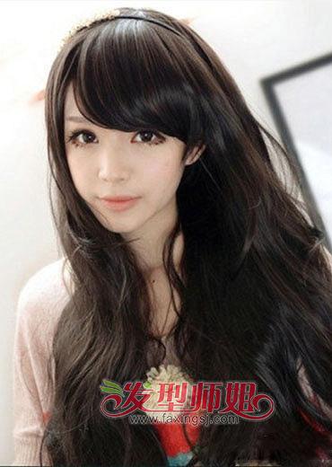 2015最流行长脸斜刘海的发型图片(4)图片