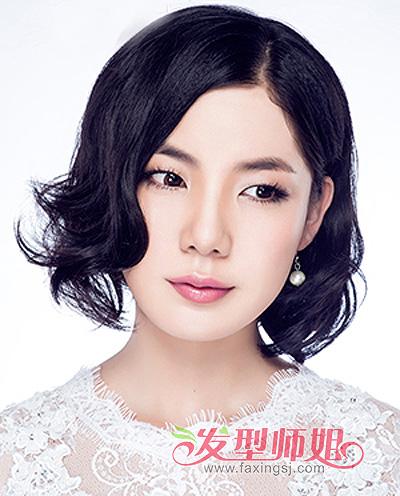 女生尖尖脸发型 尖脸女生适合什么样的短发发型(2)图片