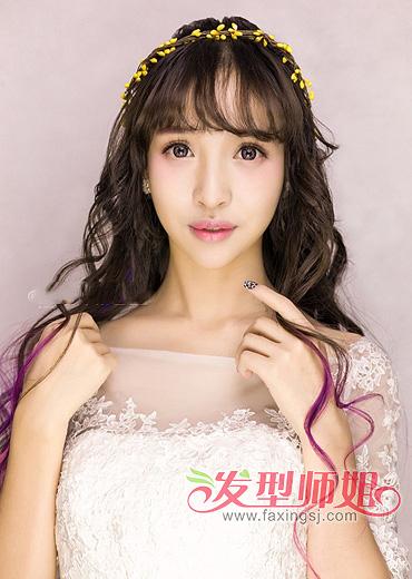 长脸适合什么新娘发型 长脸型新娘发型图片(2)