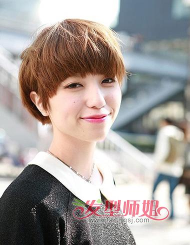 齐刘海短发发型 齐刘海发型设计(2)