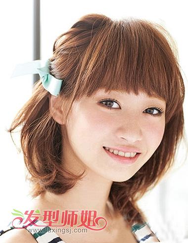 圆脸女生梳短发造型会更帅气可爱一些,短发   梨花头   集锦,