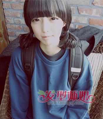 韩式 发型半扎半披 中年人韩式 发型扎法 发型