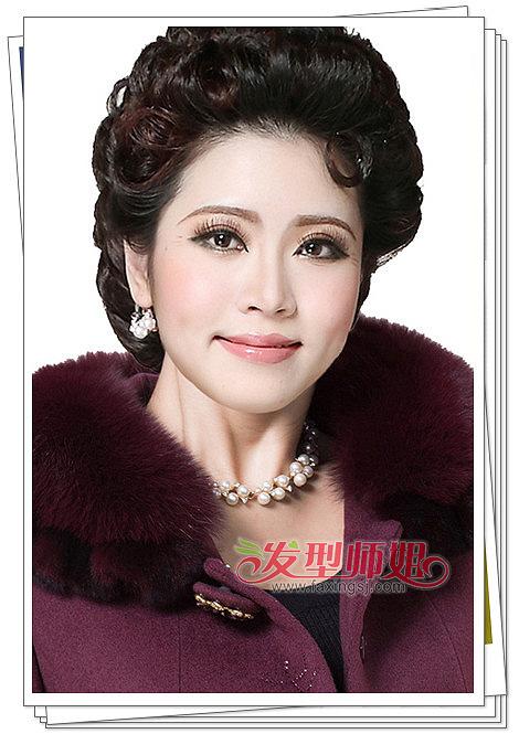 中老年人烫发发型_中老年发型 适合中老年的盘发发型_发型师姐