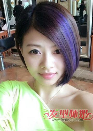 2015最流行的发型女离子烫 沙宣短发离子烫发型图片
