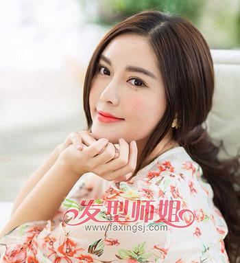 中国最简单的发型中长发 国字脸中长发发型(4)图片
