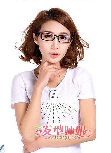 ... 眼镜的女生,适合怎样的短发发型,请帮忙解决一