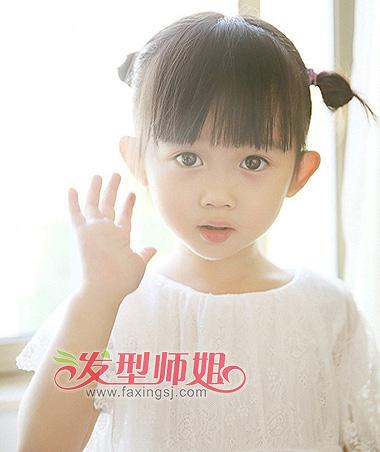 发型设计 儿童发型 >> 瓜子脸短发女童发型设计 小女孩瓜子脸适合的