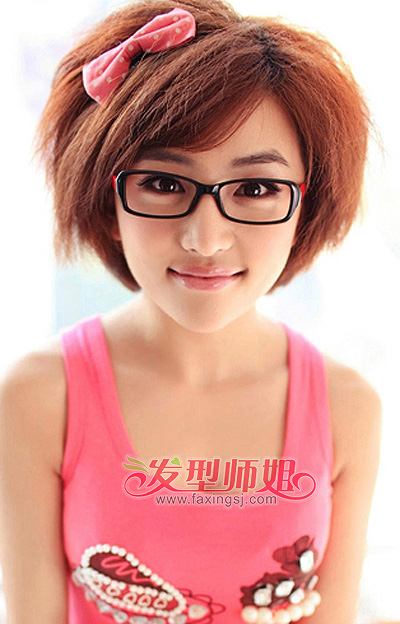 大饼脸适合什么样的短发型 大饼脸短发发型图片(3)图片