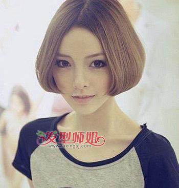 女大圆脸适合的短发_大圆脸适合什么短发型 大圆脸适合什么短发型女图片_发型师姐