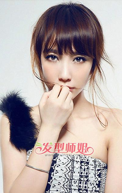 女生长脸窄额头适合扎的发型