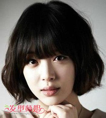 大脸美女的短发型 大脸女生适合短发的发型图片