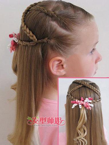 小女孩编辫子发型分解图