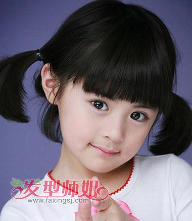小女孩扎头发发型 小女孩短发怎么扎图片