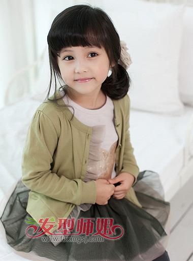 10岁小女孩扎发发型 儿童侧扎马尾发型
