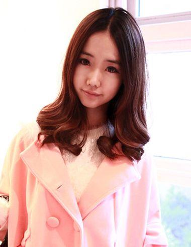 梨花头中分没有刘海会不会老气 中分长款梨花头发型图片 发型师姐图片