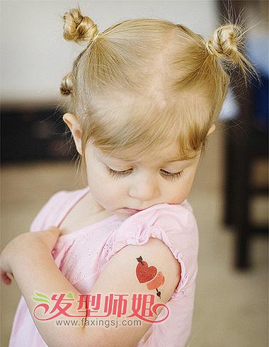 怎么帮小女孩扎短头发 儿童短发怎么扎图片