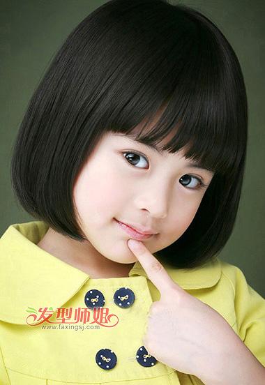 儿童发型 >> 儿童短发怎么梳 童花头与波波头哪款更适合小女孩  2015图片