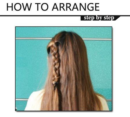 自己编头发的方法 怎样编头发步骤教学