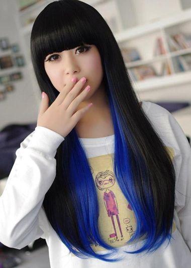 直发发型颜色挑染 挑染一种颜色的直发发型图片(2)图片