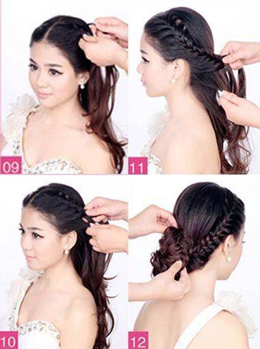 韩式新娘发型扎法 最炫新娘盘发教程(3)